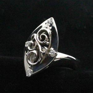 シルバーリング 指輪 刻印 キュービックジルコニア クラウズ|bluelace