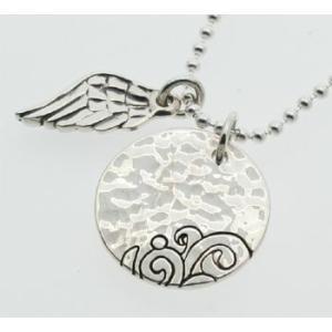 出産祝い 名前入りシルバーIDプレート 天使のはねチャーム付き シルバー925 名入れベビーギフト|bluelace|04