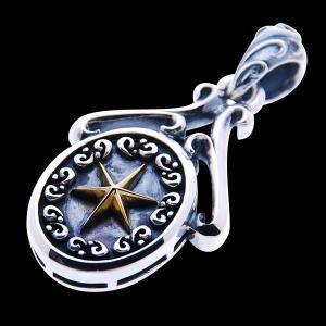 メンズ シルバーペンダント トップ 刻印 星 クラウズシリーズ グラスプスター 真鍮 Blula ブルレ シルバー925 男性用 bluelace