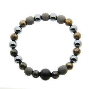 ブラックシリカ ブレスレット 和風 天然石ブレス 黒 特別バージョン 大 流石の黒石 メンズ 男性用|bluelace