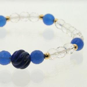 天然石 パワーストーン ゴム ブレスレット|bluelace