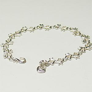 シルバーブレスレット ハートのチェーンブレス キュービックジルコニア cuore silver925 レディース 女性用