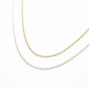 K10 イエローゴールド ホワイトゴールド チェーン 40cm|bluelace