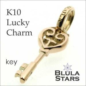 ゴールドアクセサリー チャーム ブルレスター K10ラッキーチャーム キー Blula チョーカー 10金 メンズ レディース|bluelace