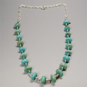 天然石ターコイズ(ブルー)ネックレス|bluelace