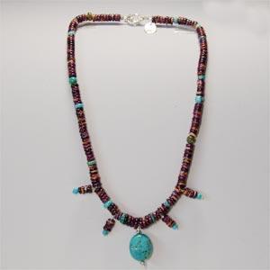 天然石ターコイズネックレス|bluelace