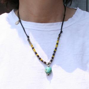 天然石ターゴイズ(ブルー)ネックレス|bluelace