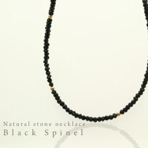 ブラックスピネルネックレス|bluelace