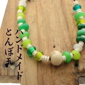 トンボ玉 アクセサリー ネックレス|bluelace