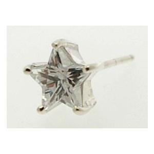 ピアス キュービックジルコニアピアス 星 小 Shooting star silver925 メンズ レディース|bluelace|02