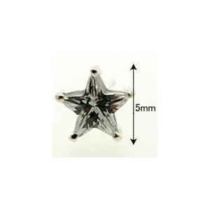 ピアス キュービックジルコニアピアス 星 小 Shooting star silver925 メンズ レディース|bluelace|03