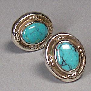 ピアス シルバーピアス アンティークデザイン ターコイズ Classical silver925 レディース 女性用|bluelace