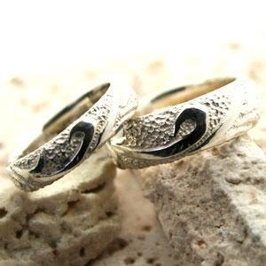 ペアリング 指輪 唐草模様 デザイン ペアリング セット|bluelace