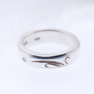 シルバーリング 指輪 ダイヤモンドリング 刻印 レインドロップ 細 アラベスク|bluelace