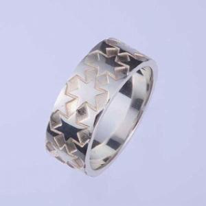 シルバーリング 指輪 刻印 星 メンズ 男性用|bluelace