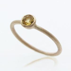 10金 誕生石リング 11月 シトリン リング 指輪 レディース ジュエリー K10 YG|bluelace