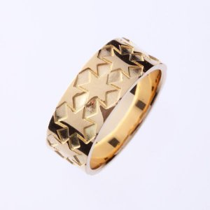 ゴールドリング 刻印 指輪 星モチーフ ブルレスター K18 指輪 大 Blula レディース メンズ|bluelace