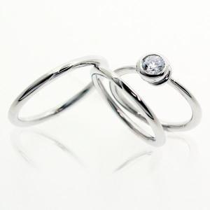 セットリング 結婚指輪 婚約指輪 ペア|bluelace