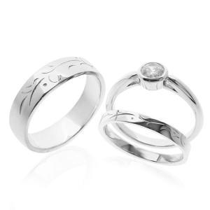 結婚指輪 婚約指輪 ダイヤモンド プラチナ|bluelace