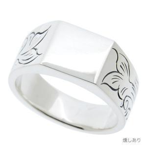 メンズ 指輪 印台リング アラベスク 刻印 ネーム入れ 唐草スクエアーNM シルバー925|bluelace|05