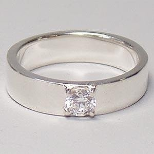 シルバーリング 指輪 刻印 キュービックジルコニア|bluelace
