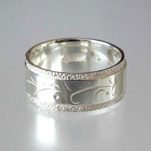 シルバーリング メンズ 刻印  レモングラス 太 アラベスク 指輪 レディース|bluelace