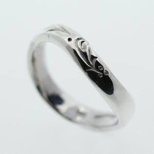 シルバーリング 指輪 刻印 メンズ レディース ブルーグラス アラベスク|bluelace