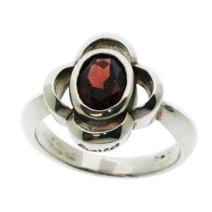【シルバーリング】1月の誕生石ガーネット(赤) シルバーリングhana ☆指輪