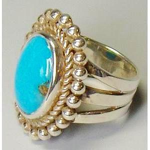 シルバーリング 指輪 刻印 インディアンジュエリー ターコイズ sleepingBeauty|bluelace