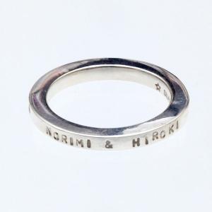 シルバーリング 指輪 刻印 メッセージ 表 Angel's circle オーダーメイド|bluelace