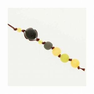 和風携帯ストラップI ブラックシリカ (イエロー) オレンジアンゴナイト オリーブジェイド|bluelace