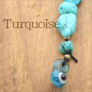 携帯ストラップ ターコイズ|bluelace
