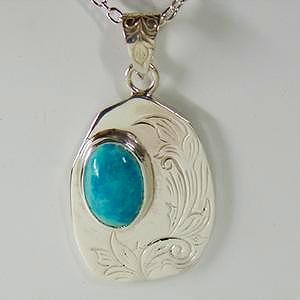 シルバーペンダントトップ アラベスク インディアンジュエリー ターコイズ NMモデル silver925 レディース 女性用|bluelace