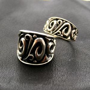 ペアリング シルバーリング 刻印 Clouds 結婚指輪|bluelace