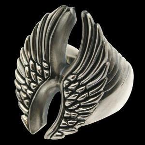 シルバーリング 指輪 刻印 羽のリング WINGS ウィングス 大 Blula ブルレ|bluelace
