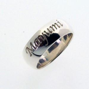 ネームリング オーダーメイド シルバーリング 指輪 刻印 甲丸 withRING|bluelace