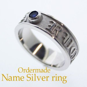 ネームリング 誕生石 指輪|bluelace