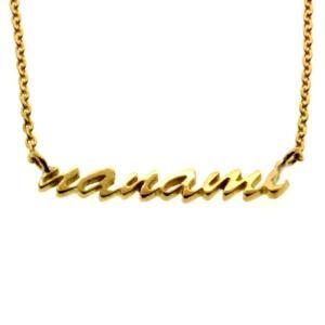 ネームネックレス ゴールドペンダント 名前 刻印 オーダーメイド K18 18金|bluelace