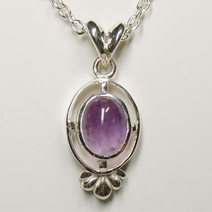 (紫の天然石)アメジストシルバーネックレストップ【送料無料】Victorian stones(S)|bluelace