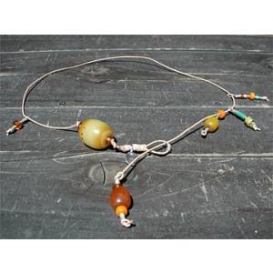【一点もの】アンティーク黄玉トリプルネックレス Antique Neck bluelace