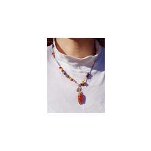 アンティーク天然石カーネリアン&ビーズ Antique Neck|bluelace|02