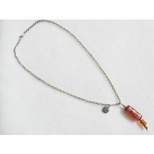 アンティーク天然石カーネリアンチェーン Antique Neck|bluelace