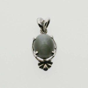 天然石キャッツアイ シルバーペンダント トップ Victorian stones(S) bluelace