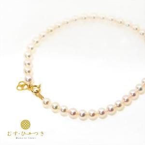 あこや真珠 ベビーパール ブレスレット 4.5mm K10 K18|bluelace