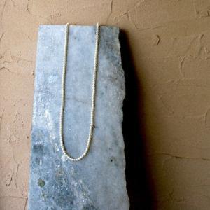 ロング 淡水パール ネックレス ベビーパール ラウンド 70cm K10 日本製|bluelace