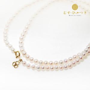 あこや真珠 ベビーパール ネックレス 3.5mm K18|bluelace