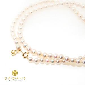 あこや真珠 ベビーパール ネックレス 4.5mm K10 K18|bluelace