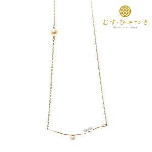 あこや真珠 ベビーパール ネックレス 4粒真珠 3.5-4.5mm K10 K18|bluelace