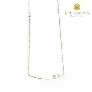 あこや真珠 ベビーパール ネックレス 3粒真珠 3.5-4.5mm K10 K18|bluelace