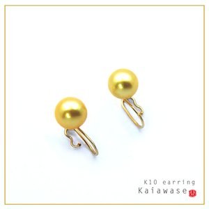 あこや真珠 いろなチャームの組み合わせを楽しめる イヤリング パール ゴールド 8.5mm 10k レディース|bluelace